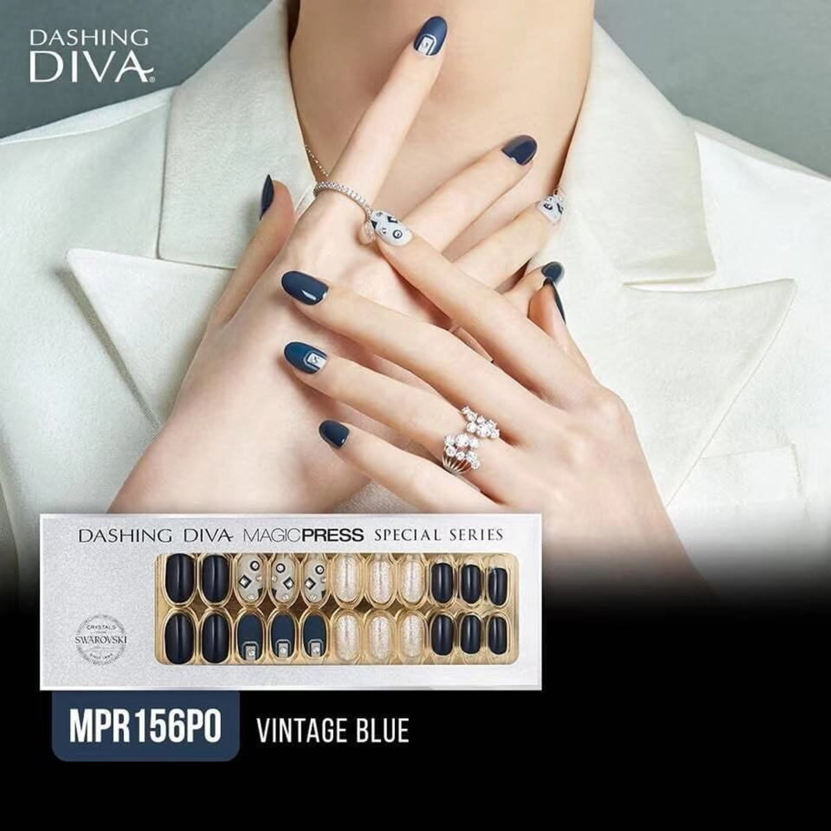 Magic Press Limited Edition Embellished with Crystals from Swarovski MPR156PO Vintage Blue