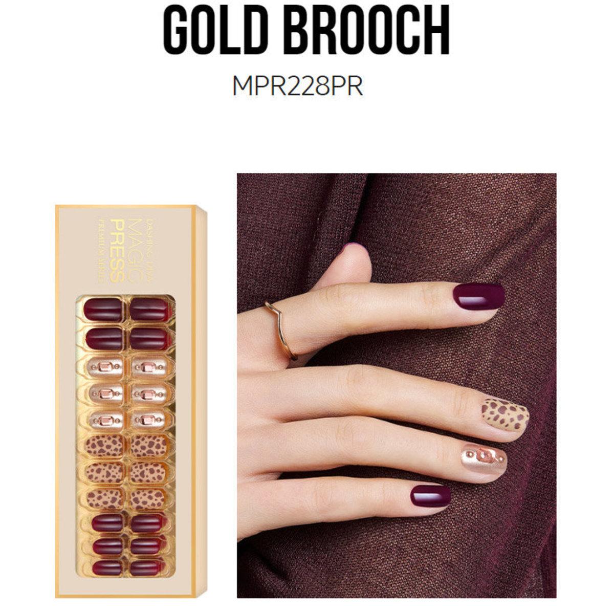 Magic Press MPR228PR Premium Super Slim Fit - MAKE A MOOD FALL (Limited Edition 2019) Gold Brooch