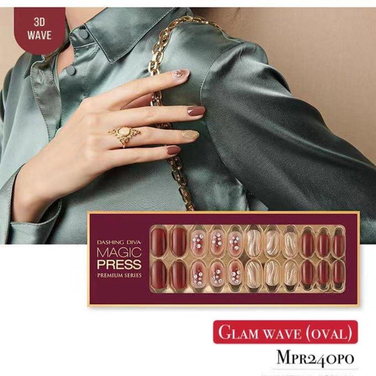 Magic Press MPR240PO Premium Super Slim Fit - Glam Move Collection (Limited Edition) Glam Wave (Oval)