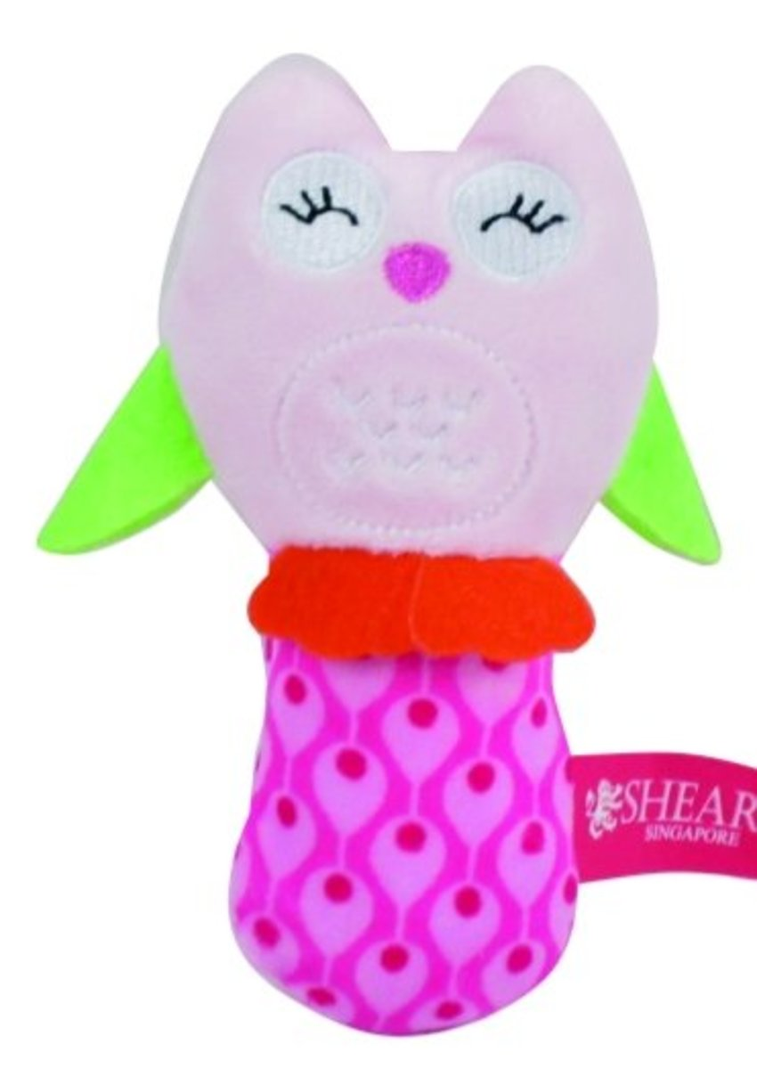 Squeaker Toys - Owl Pink