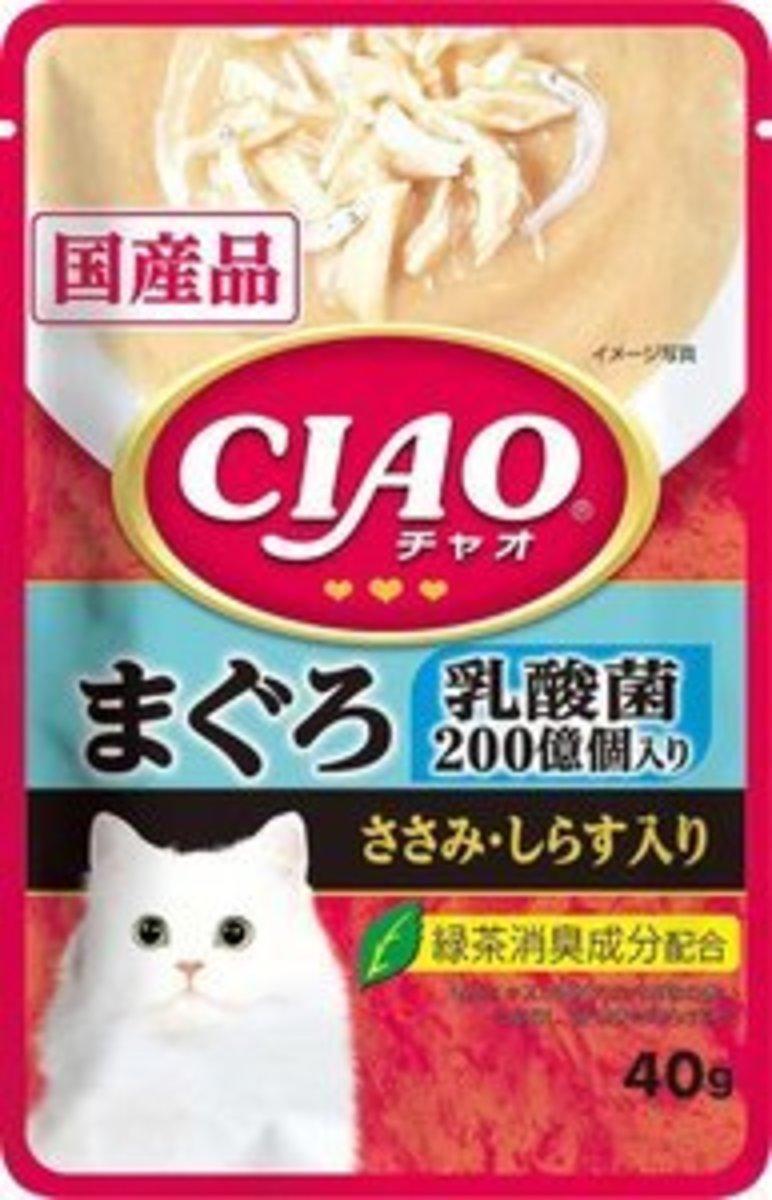 日本CIAO袋裝湯包 乳酸菌 吞拿魚 雞肉.白飯魚 40g (IC-325)