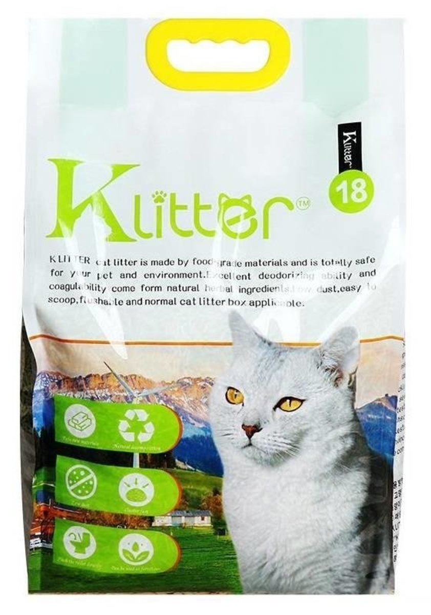 【Klitter】天然健康原料豆腐玉米貓砂 2.0綠茶幼粒 18L