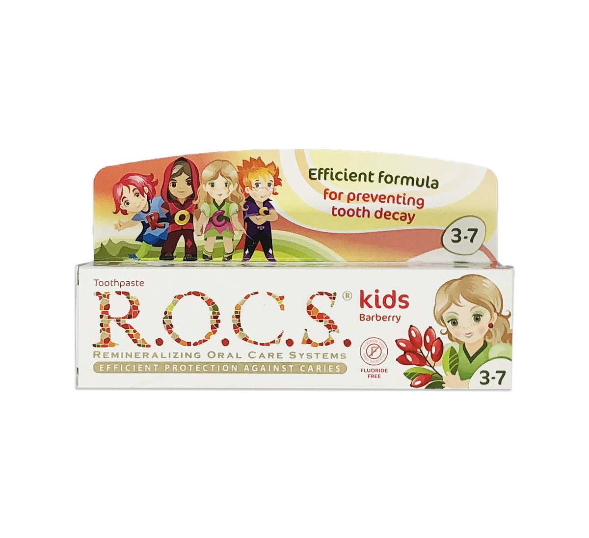 Kids Barberry Toothpaste (w/o Fluoride) 3-7 year old