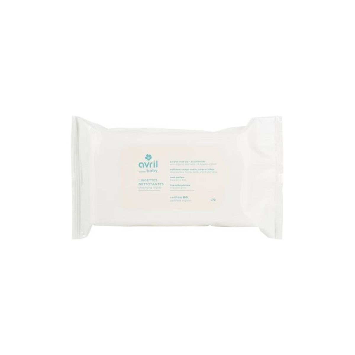 Organic Baby Cleansing Wipes x72