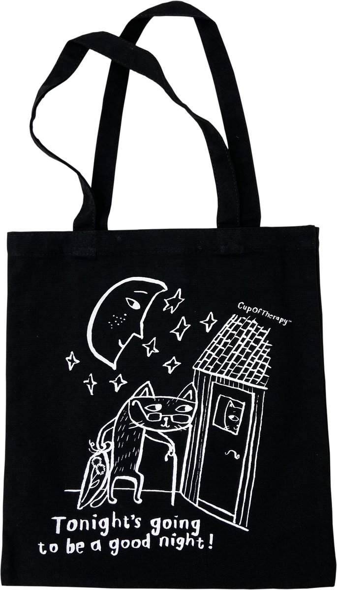 CupOfTherapy black canvas bag
