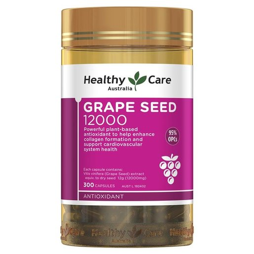 Healthy Care | Grape Seed 葡萄籽膠囊12000mg 300粒(最新版) | HKTVmall 香港領先網購平台