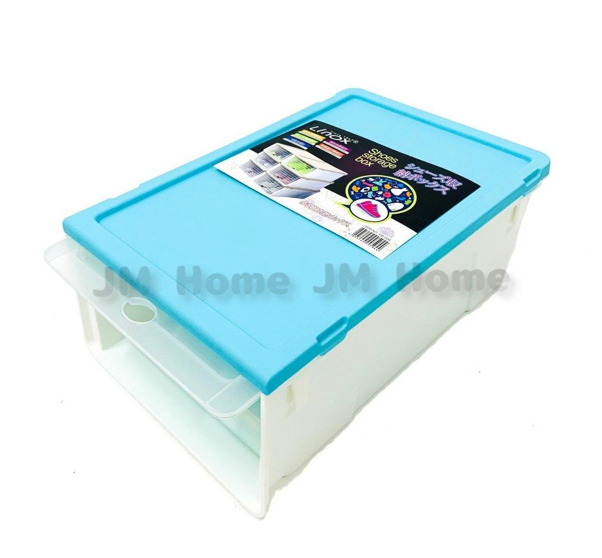 (Blue) sliding women's rubber shoe box
