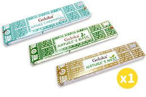 Goloka 印度Goloka Nature系列天然線香 - 冥想, 羅勒, 鳥巢 15g (各1盒) #Naturaland  #天然線香 #印度線香