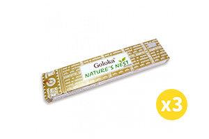 Goloka 印度Goloka Nature系列天然線香 - 鳥巢 15g (3盒) #Naturaland  #天然線香 #印度線香