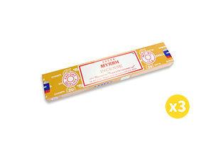 Satya Myrrh 印度Satya天然線香 - 沒藥 15g (3盒) #Naturaland  #天然線香 #印度線香