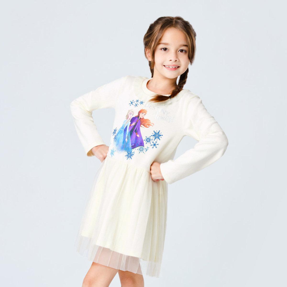 Frozen II 魔雪奇緣2 長袖網紗連身裙  [迪士尼許可產品]- #D0505