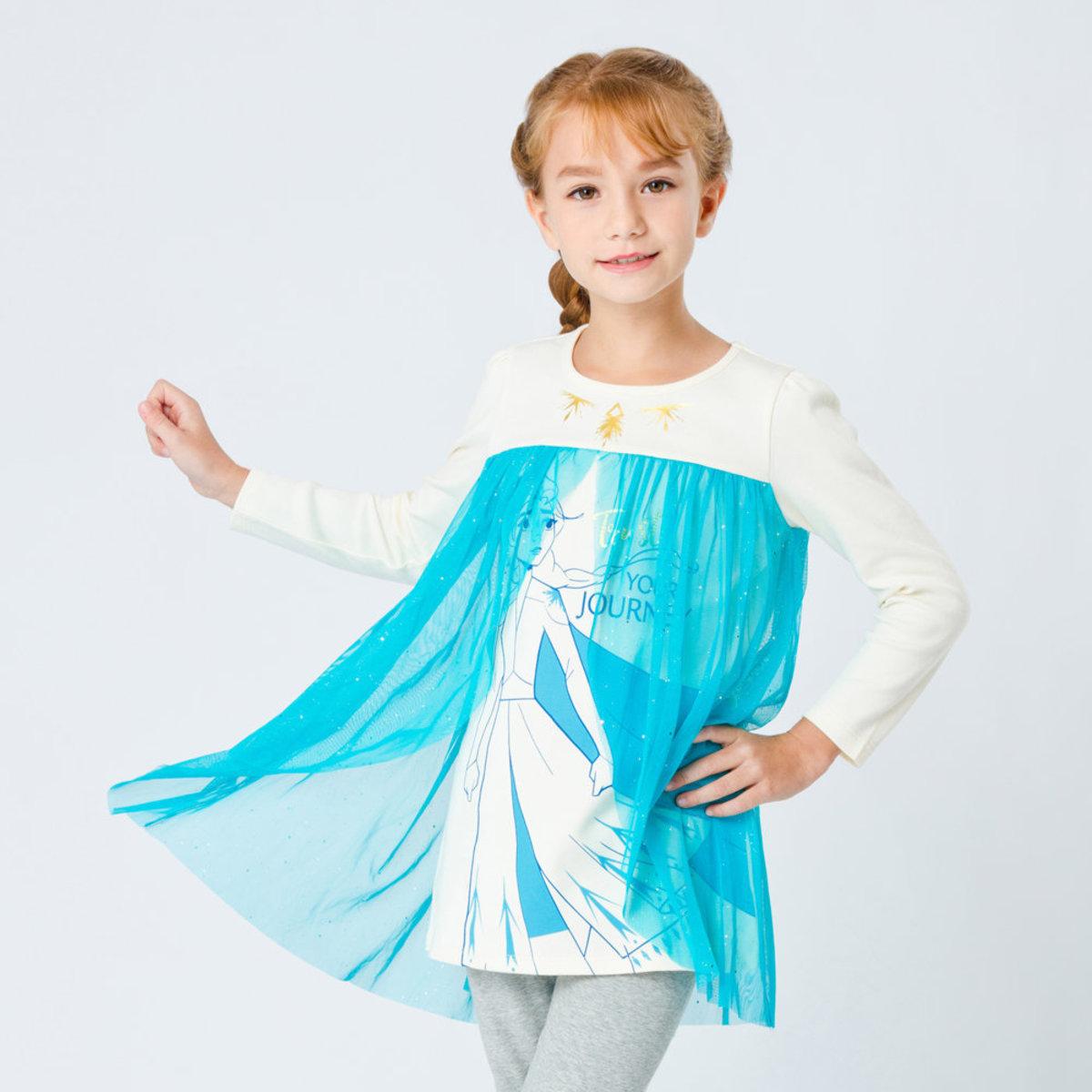 Frozen II 魔雪奇緣2 長袖公主袖紗裙  [迪士尼許可產品] - #D0507