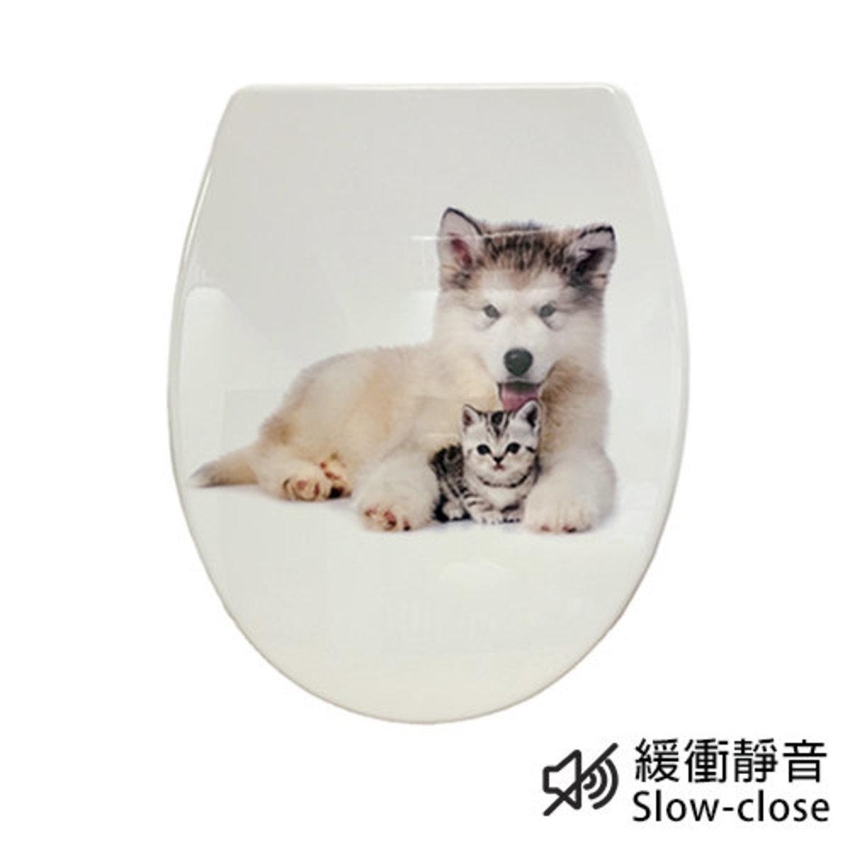 UF緩衝廁板 1C102 (動物圖案)