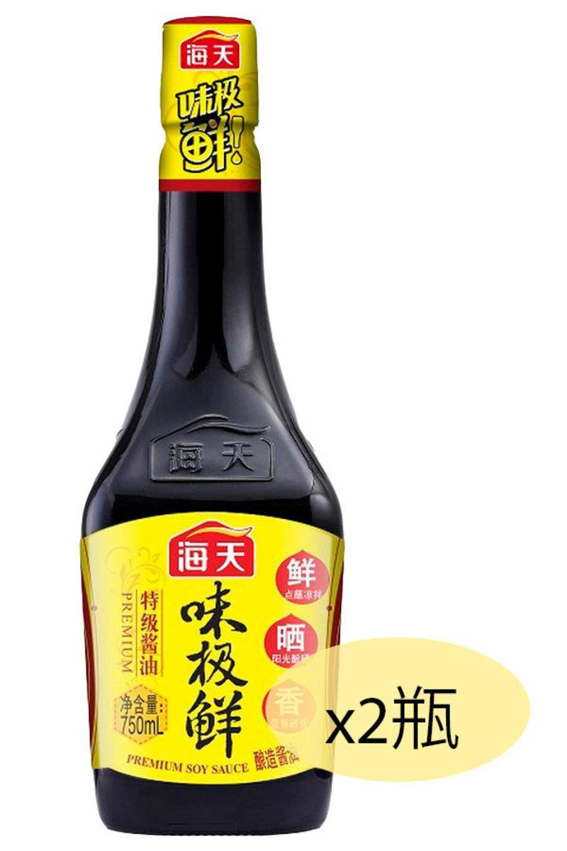 海天味極鮮醬油 750毫升 x 2瓶