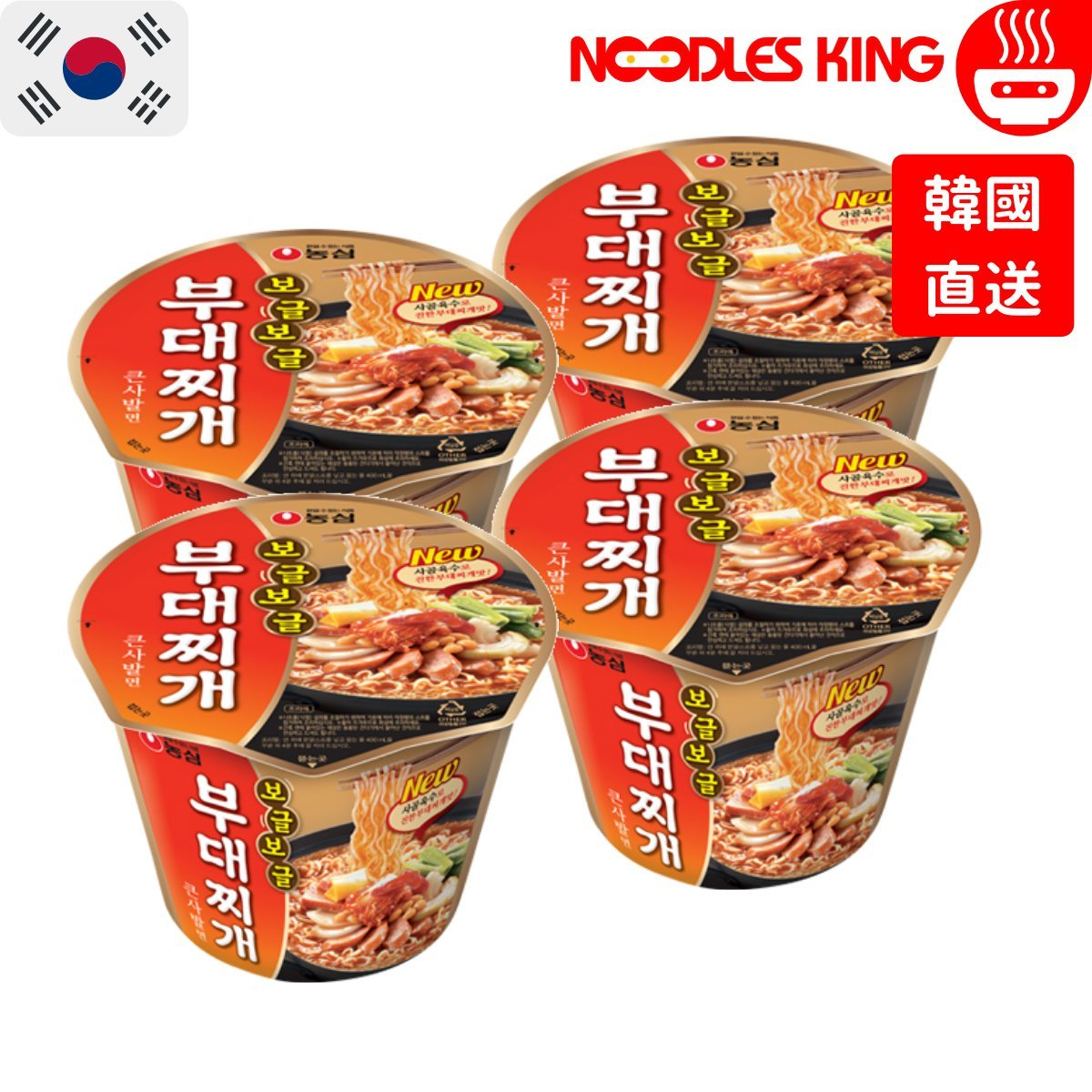 Budae Jjigae Big Bowl (Korea) 109g x 4