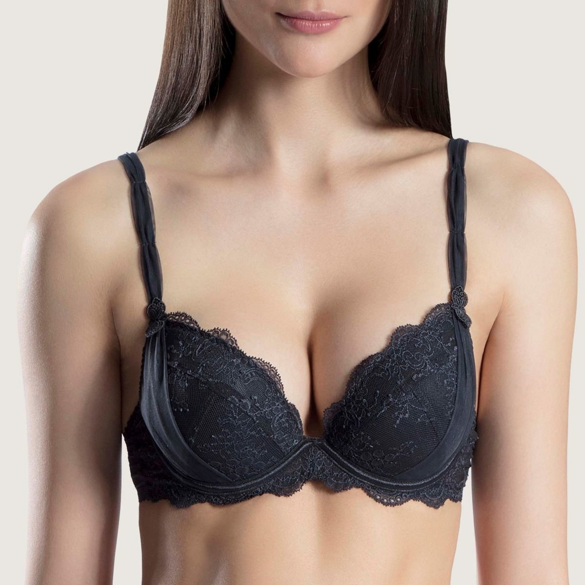Aubade Lace Push-up Bra with Removable Pad (DA18)
