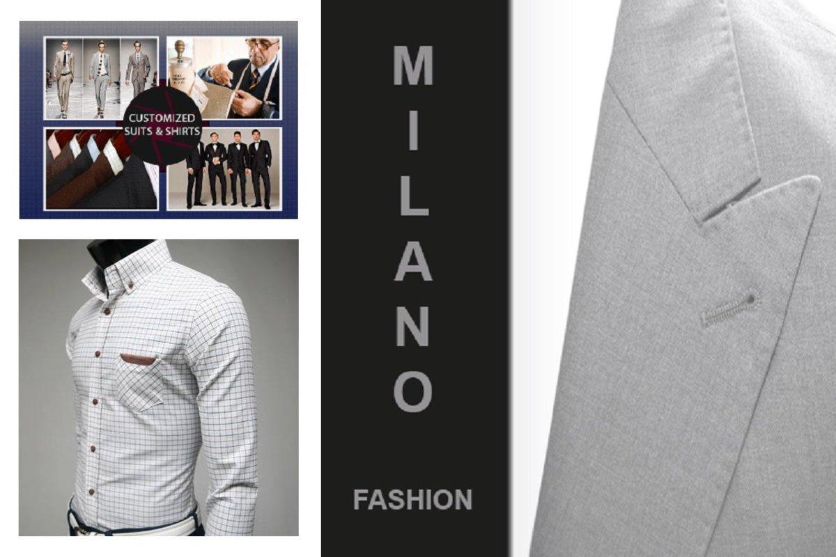 1 Set - Tailor-made Men's Wool Suit