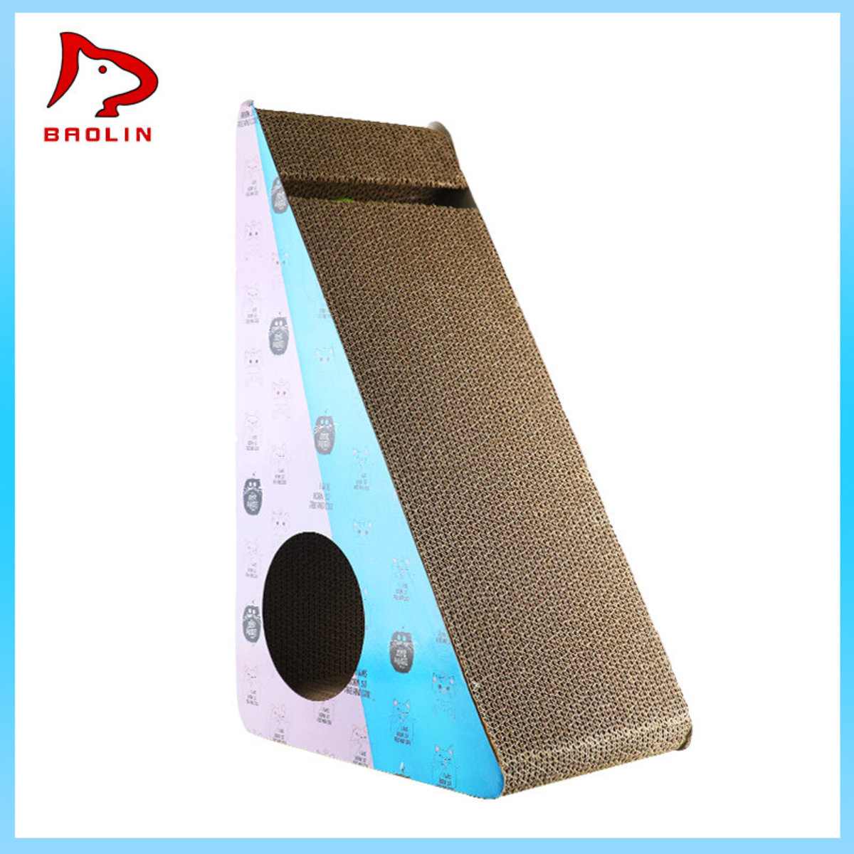 Big triangle round hole grab plate with ball