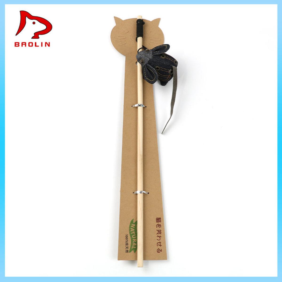 Wooden Oxford cloth cat stick (rat)