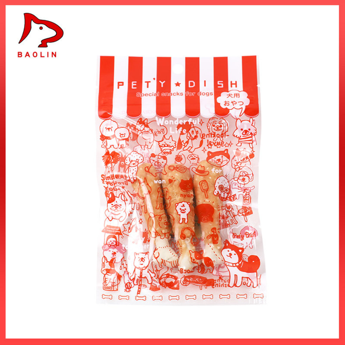 Dog bite stick snack-Chicken leg milk bone (35g)