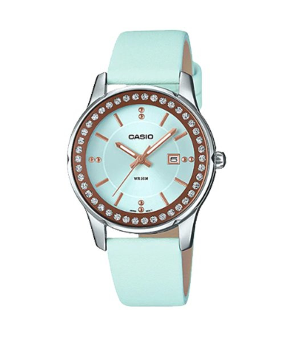 指針真皮錶帶手錶 (贈送CASIO原裝白色禮盒)