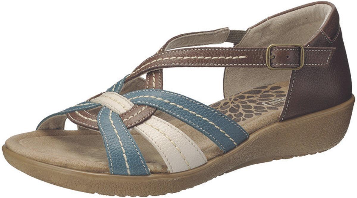 真皮舒適優閒涼鞋 SRL2070DBBK