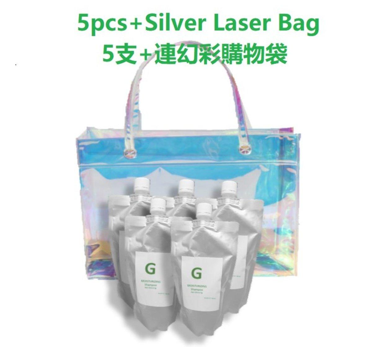 生髮洗頭水 5支+送幻彩購物袋1個【 日本 G SHAMPOO 滋潤配方】