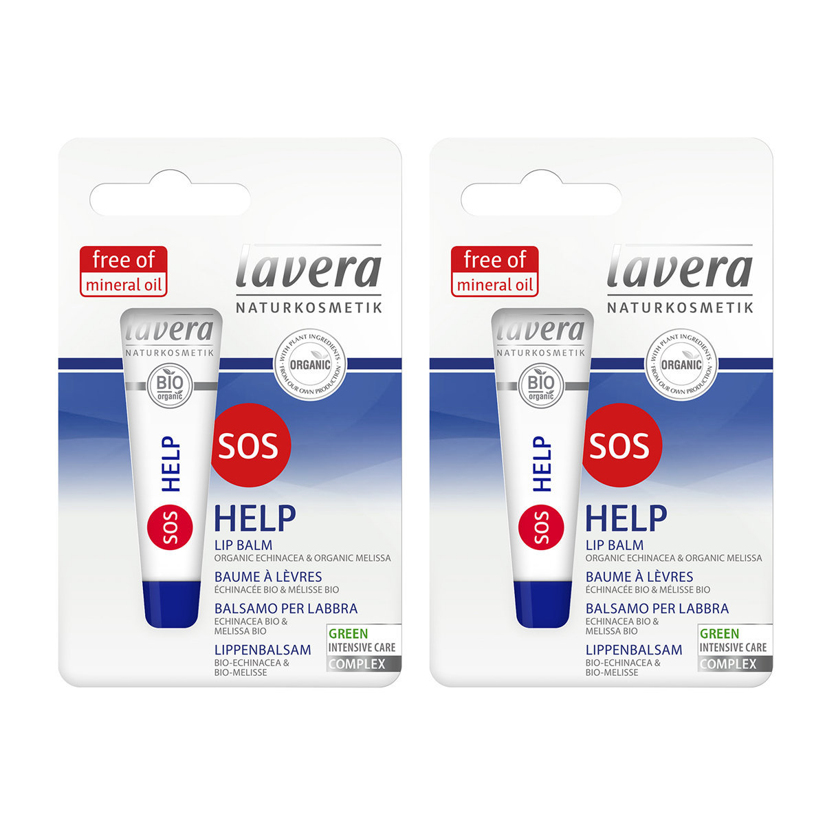 SOS Help Lip Balm (2pcs) Made in Germany (Sell-by-date: 02/2021)