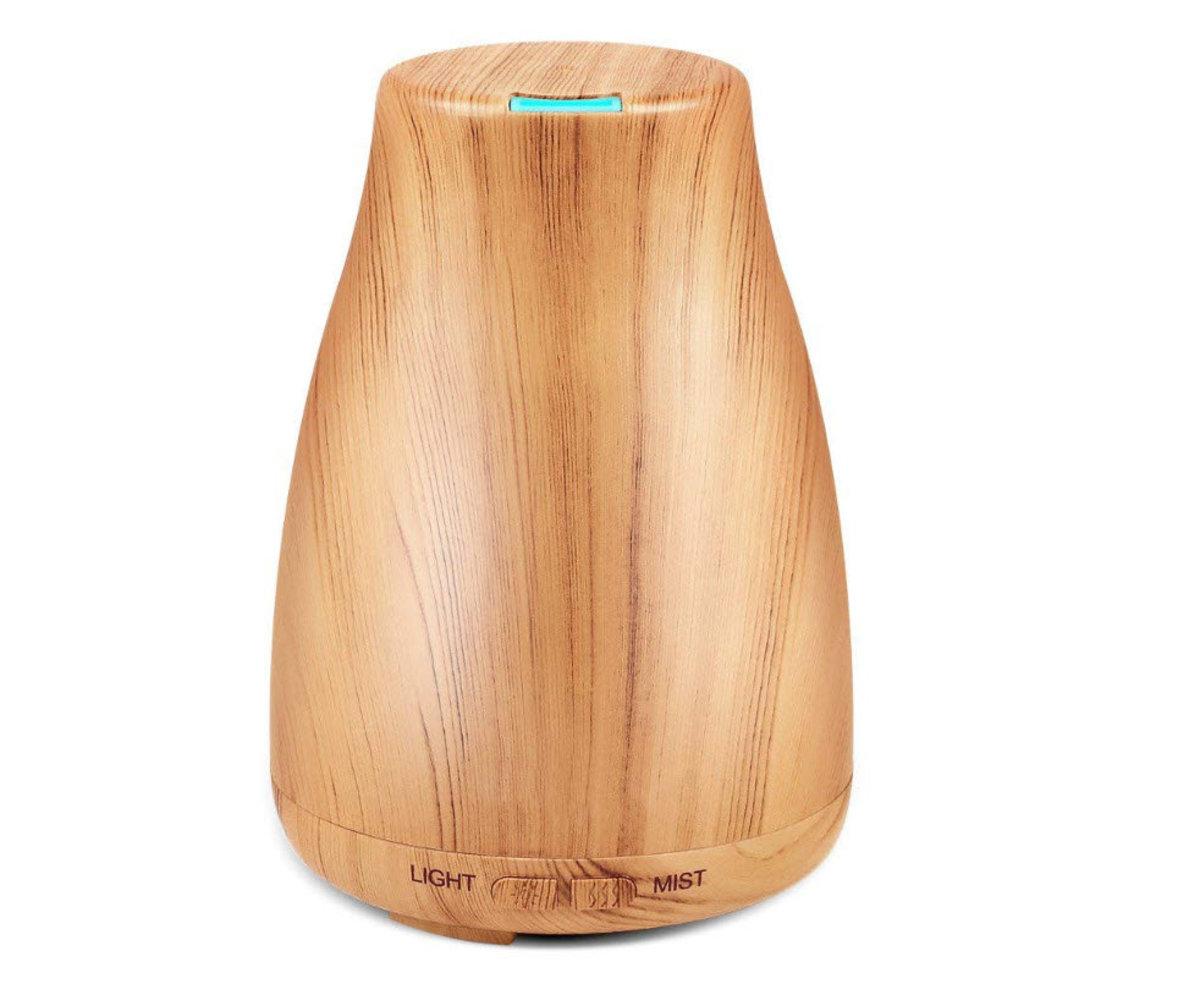 木紋清酒瓶香薰機 空氣加濕器 100ml容量 淺木紋