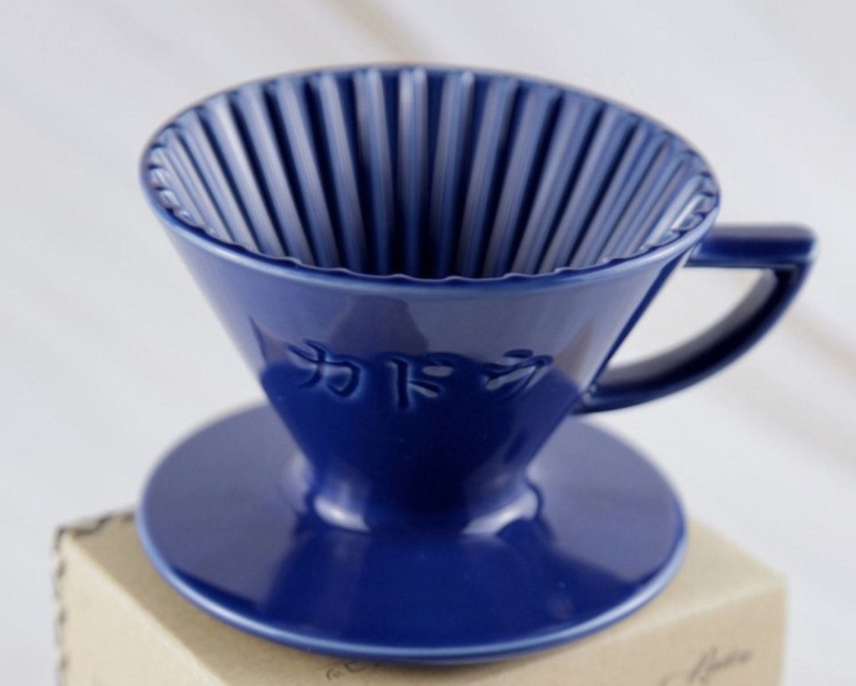 Kadou & Hasami波佐見燒 M1錐形手沖咖啡星芒濾杯