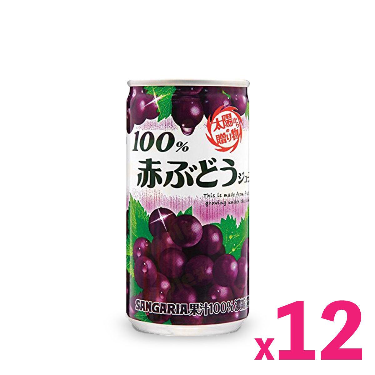 Japan Gift of Nature Grape Juice (190ml) x 12