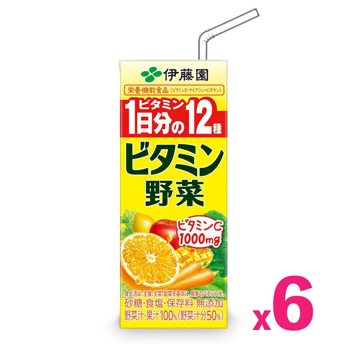 「日本版」一日分量維生蔬果汁 (200毫升) (黃色) x 6包