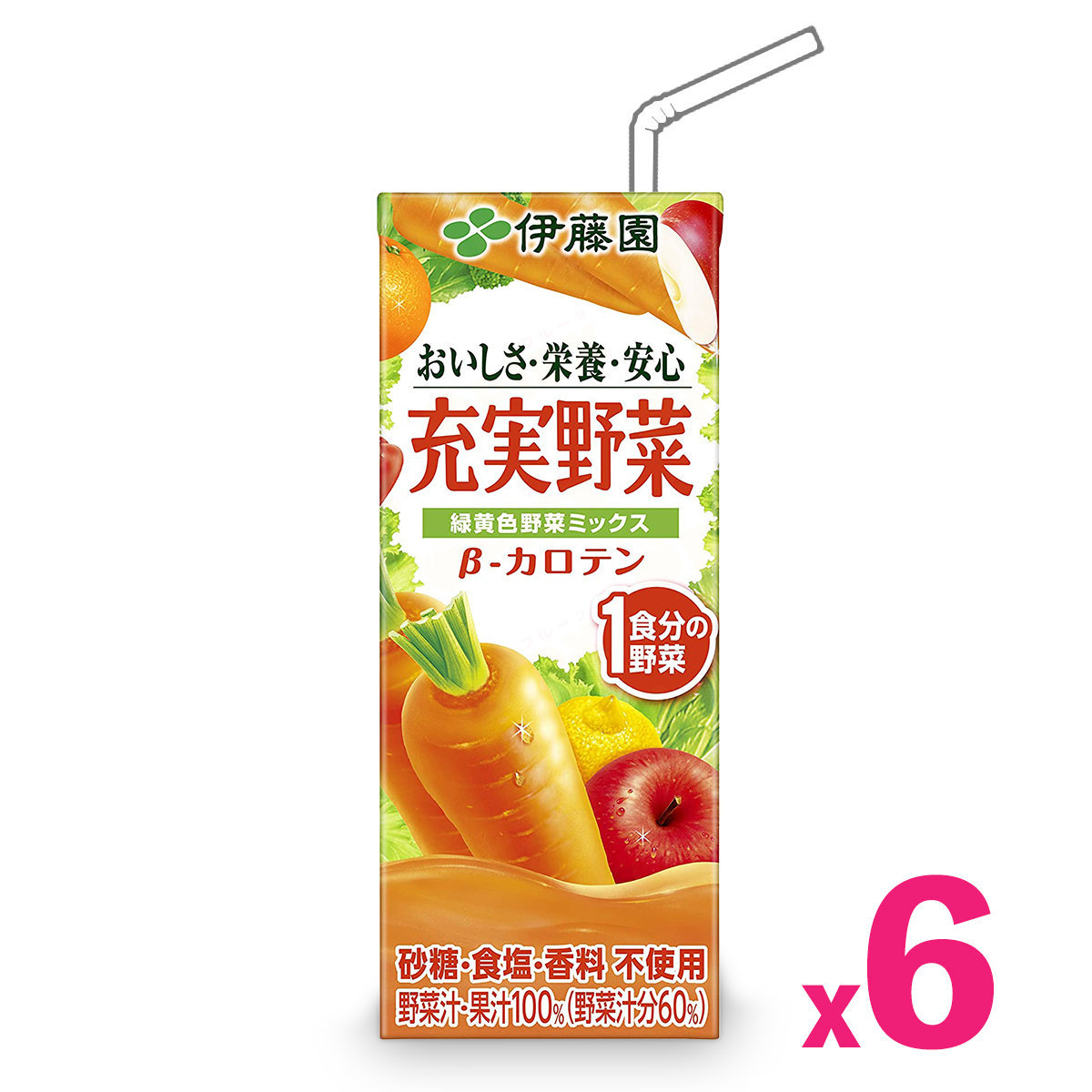 Daily Greend and Yellow Vegetables & Fruit Juice (200ml) (Red) x 6packs