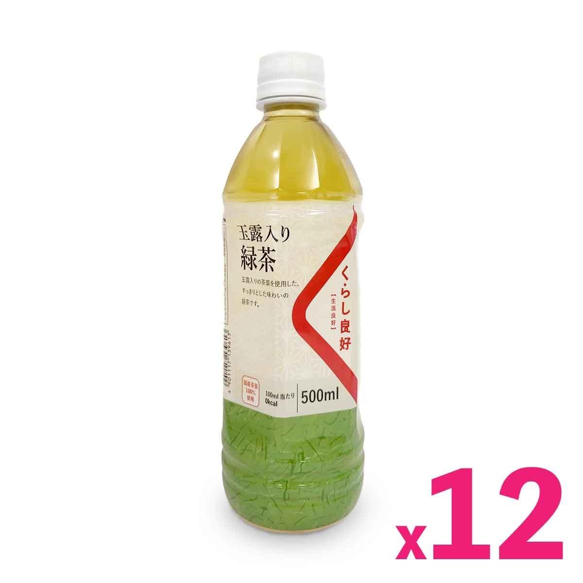 生活良好- 無糖玉露入綠茶 (500毫升) x 12支