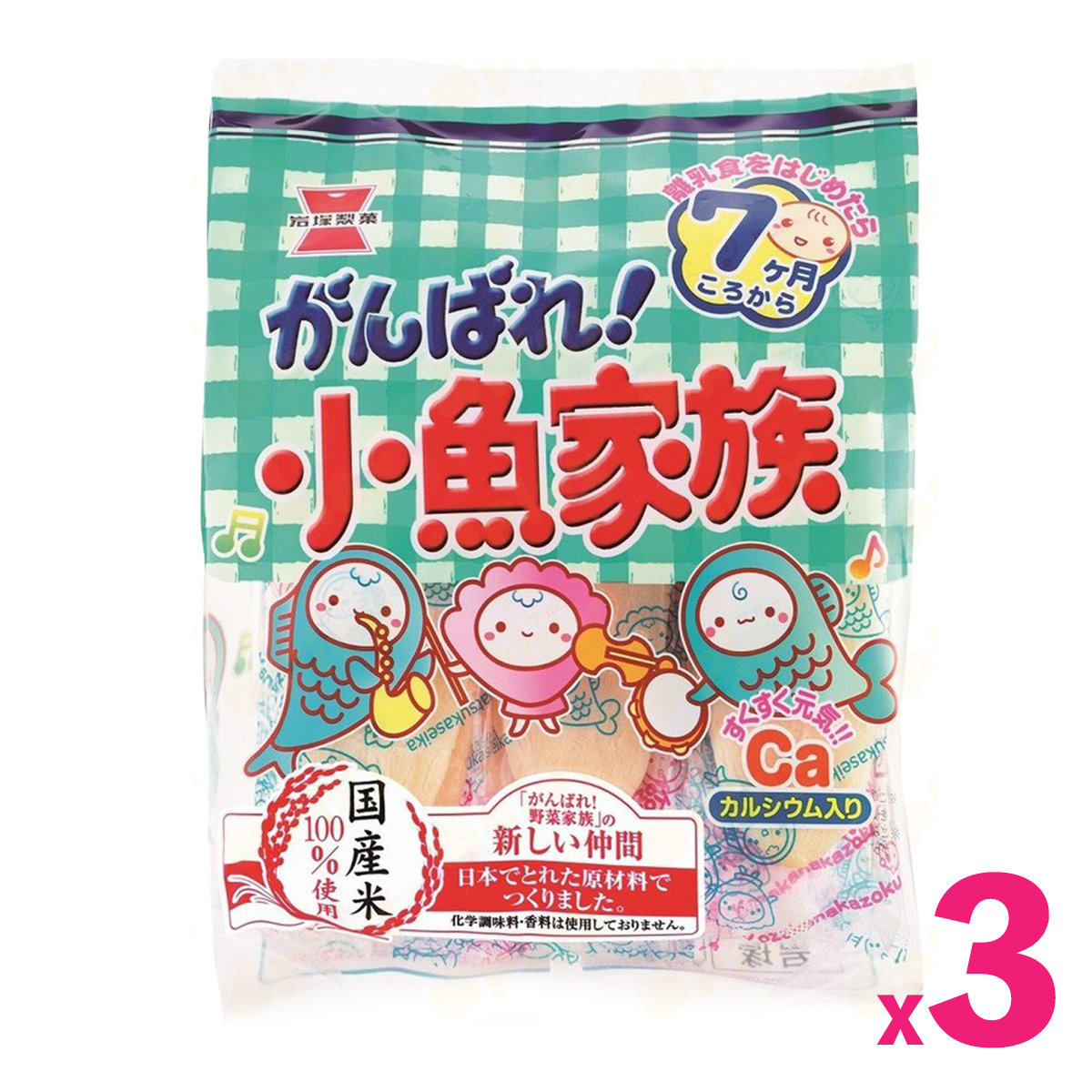 Seafood Baby Rice Puff (26pcs) x 3