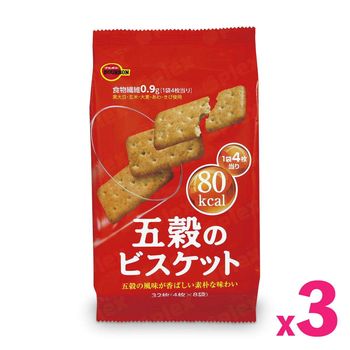 Five Grain High Fiber Biscuit (32pcs) x 3bags