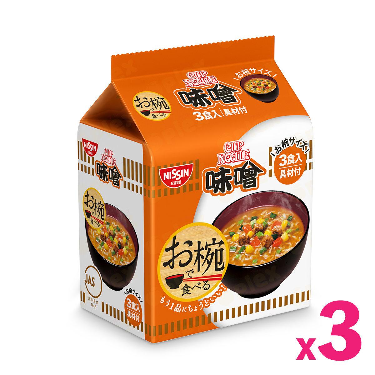 快熟碗麵 - 味噌味 (3份入) x 3包