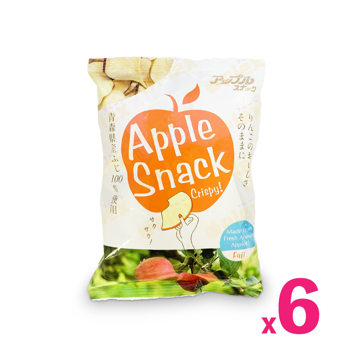 Aomori Apple Chips - Fuji Apple (45g) x 6packs