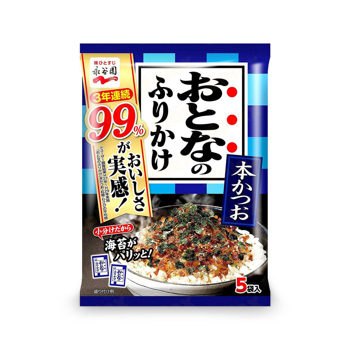 日本鰹魚紫菜拌飯素 (5包裝)