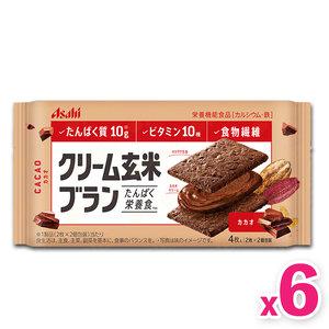朝日 日本玄米夾心餅 - 可可味 (4片裝) x 6 包 #糙米餅 6p (4946842527823)