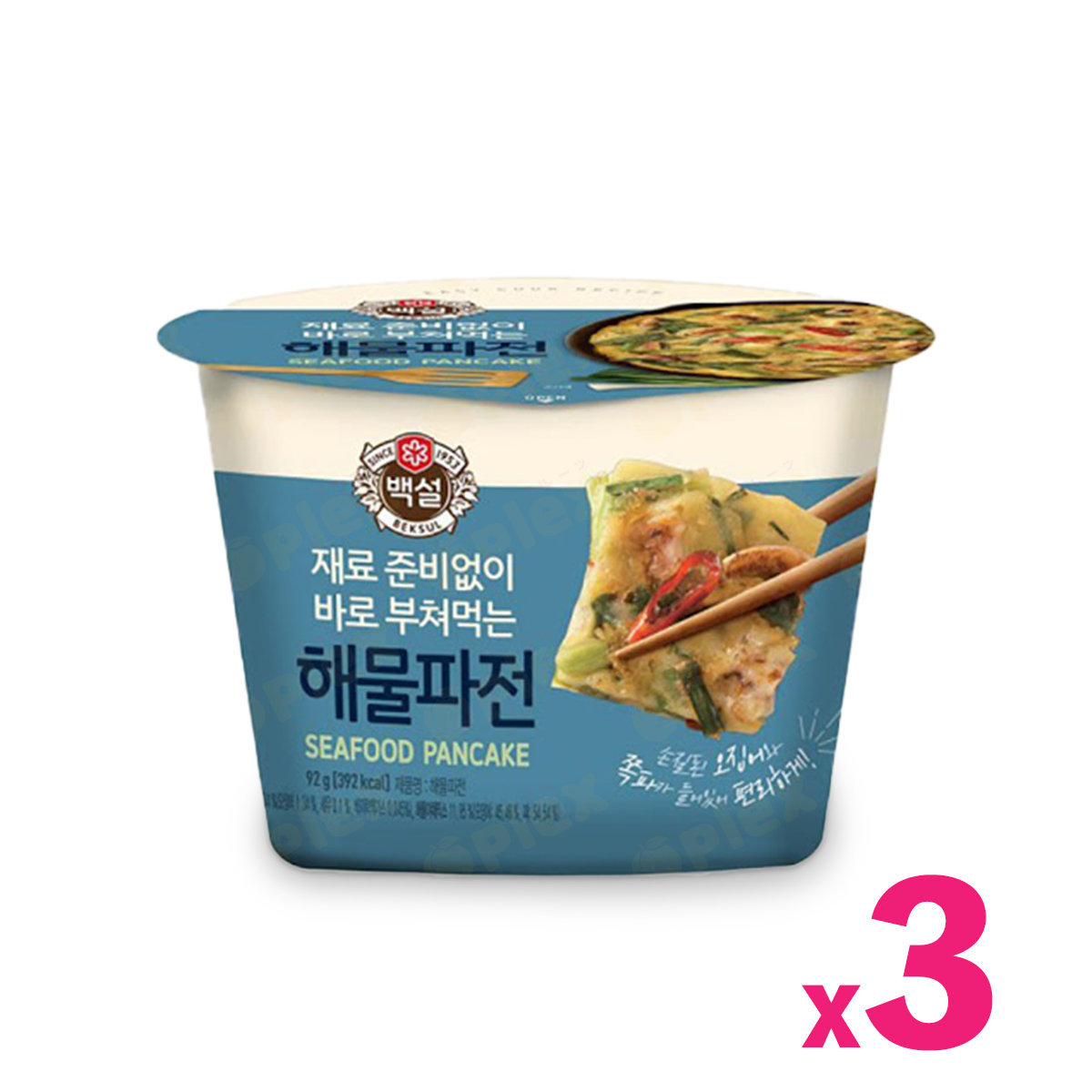 CJ Easy Cook Recipe Korean Pancake - Seafood and Green Onion (82g) x 3bowl