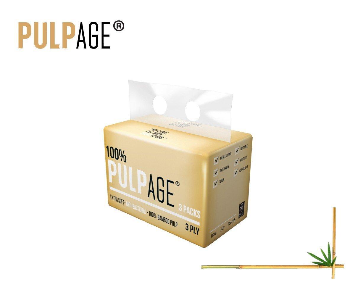 100% Bamboo Pulp Interfold Facial Tissues (24 packs x 3 bags x 90's)
