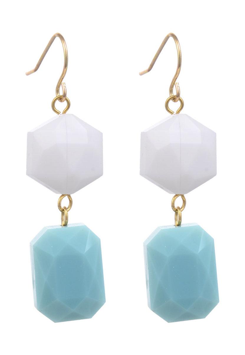 Geo Glass Beads Earring