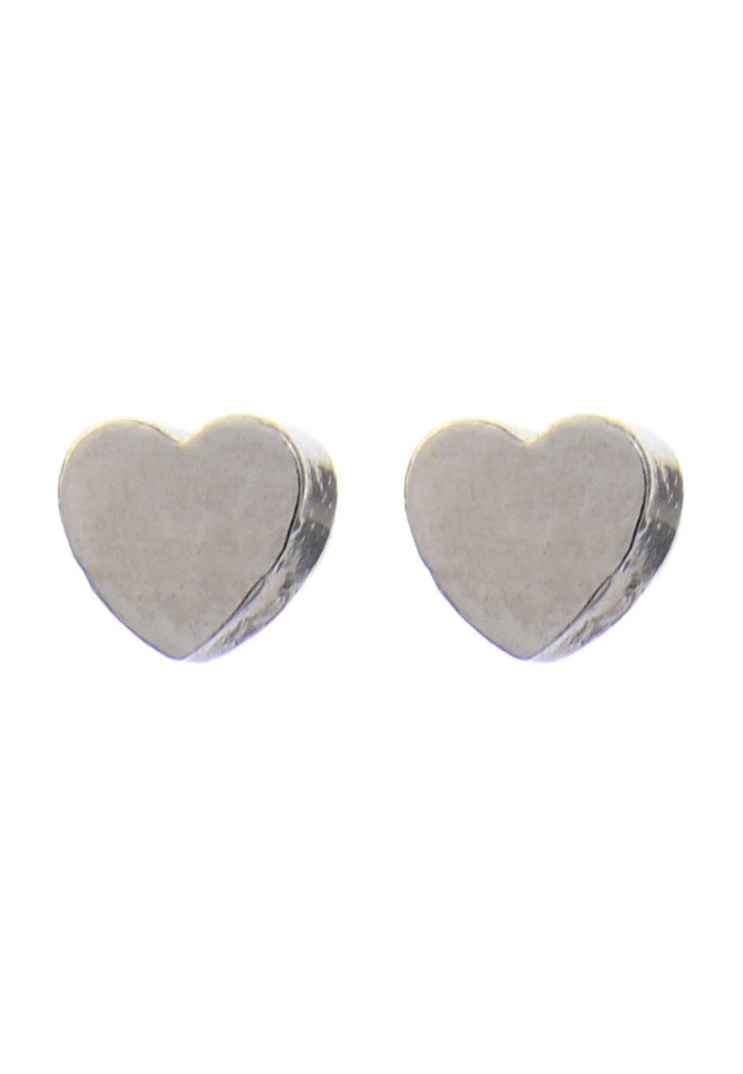 Silver heart Earring Stus