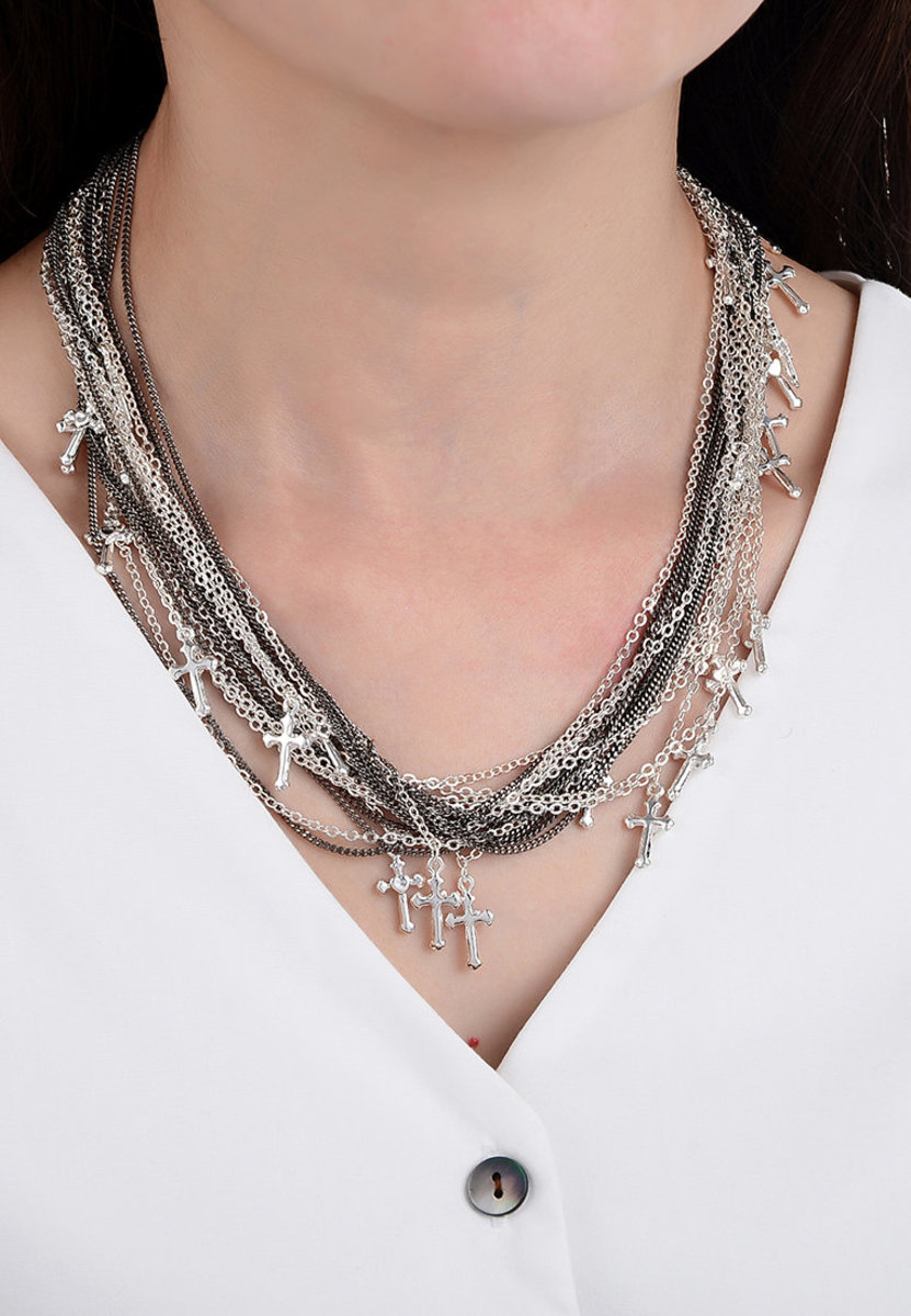 Cross Charm Layer Chain Necklace