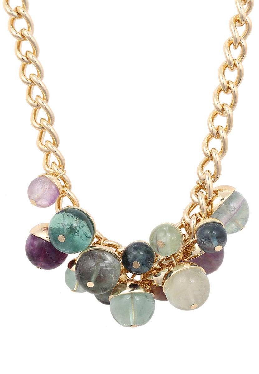 Light green Grape  fluorite Necklace