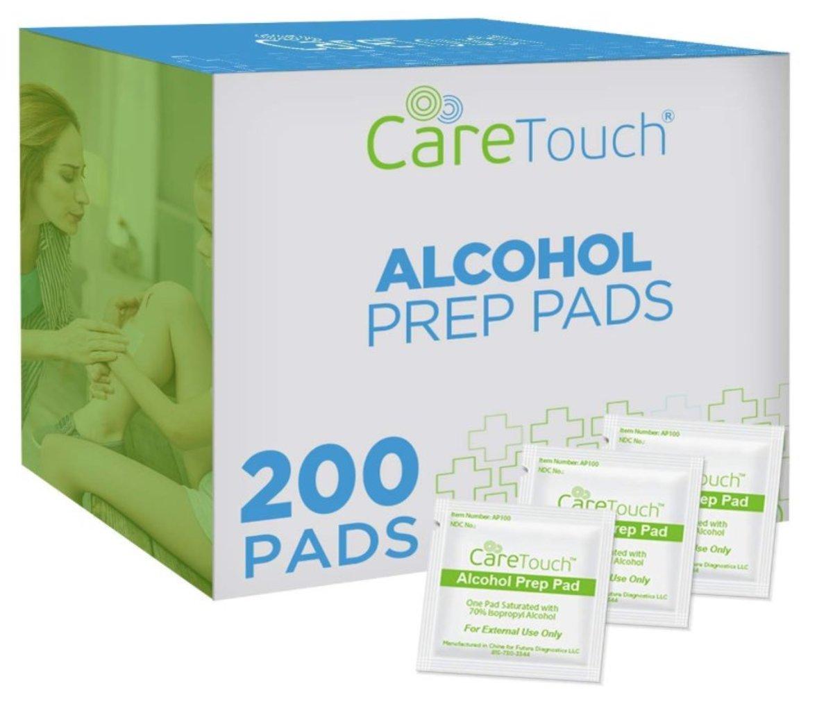 Care Touch 殺滅 99.99%細菌70%酒精- 酒精棉(Alcohol Pre Pads) - 美國平行進口 200 塊