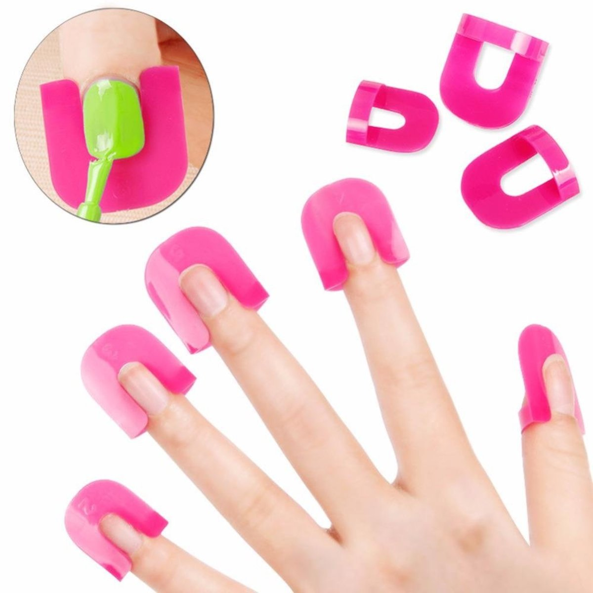 26Pcs/set Nail Polish Anti Overflow Clip Manicure Shield Protector Clamp Guard DIY Manicure Tool