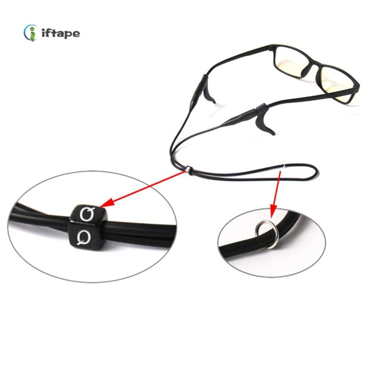 Black Neck Cord Strap String Chain Holder Sunglasses Reading glasses Spectacles Adjustable