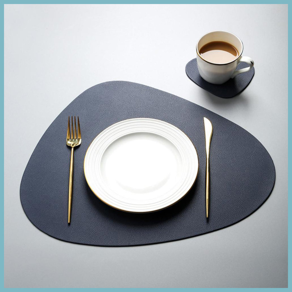 Nordic Placemats-Dark Blue 1 Big 1 Small